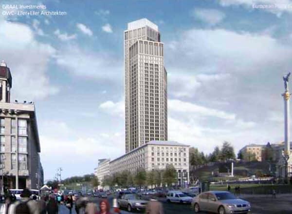 Комиссия Киеврады разрешила построить самый высокий в Киеве небоскреб возле Майдана